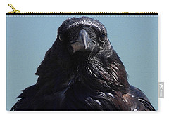 Portrait Of A Raven Carry-all Pouch