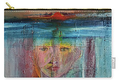 Carry-all Pouch featuring the painting Portrait Of A Refugee by Kim Nelson