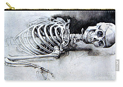Portrait Of A Skeleton Carry-all Pouch