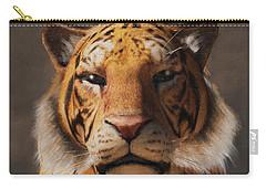 Portrait Of A Tiger Carry-all Pouch by Daniel Eskridge