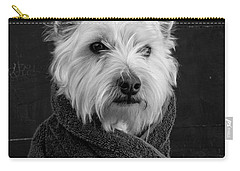 Carry-all Pouch featuring the photograph Portrait Of A Westie Dog 8x10 Ratio by Edward Fielding