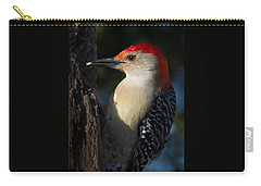 Portrait Of A Woodpecker Carry-all Pouch