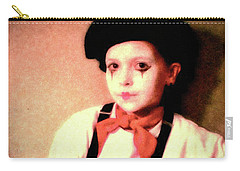 Portrait Of A Young Mime Carry-all Pouch