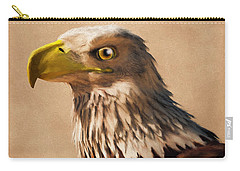 Carry-all Pouch featuring the digital art Portrait Of An Eagle by Daniel Eskridge