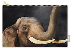 Carry-all Pouch featuring the digital art Portrait Of An Elephant by Daniel Eskridge