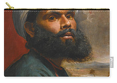 Portrait Of An Indian Sardar Carry-all Pouch by Edwin Frederick Holt