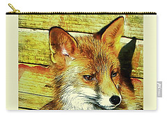 Portrait Of An Urban Fox Carry-all Pouch