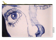 Portrait Of Catherine Close Up Details Carry-all Pouch