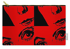 Portrait Of Catherine Pop Art Design Carry-all Pouch