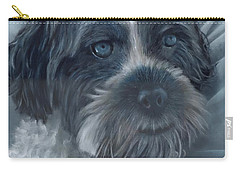 Carry-all Pouch featuring the painting Portrait Of Charley by John Neeve