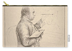 Carry-all Pouch featuring the painting Portrait Of George Stubbs By James Bretherton by Artistic Panda