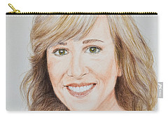 Portrait Of Jamie Colby Carry-all Pouch