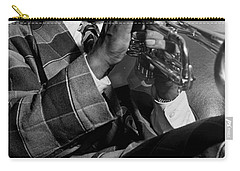Carry-all Pouch featuring the painting Portrait Of Louis Armstrong by Artistic Panda