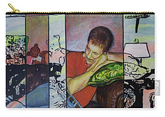 Portrait Of Randy Williams Carry-all Pouch by Ron Richard Baviello