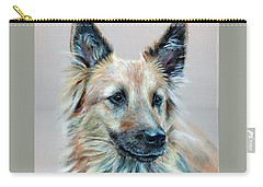 Carry-all Pouch featuring the painting Portrait Of Sasha by John Neeve