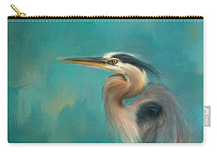 Portrait Of The Heron Carry-all Pouch by Jai Johnson