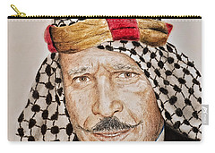 Portrait Of The Pro Wrestler Known As The Iron Sheik Carry-all Pouch