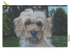 Carry-all Pouch featuring the painting Portrait Of Toffee by John Neeve