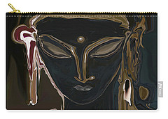 Carry-all Pouch featuring the digital art Portrait Of Vajrasattva by Rabi Khan