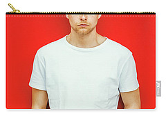 Portrait Of Young Handsome Man Carry-all Pouch