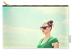 Portrait Of Young Woman Carry-all Pouch