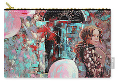 Portrait. Pink Dreams Carry-all Pouch