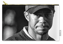 Portrait  Tiger Woods Black White  Carry-all Pouch