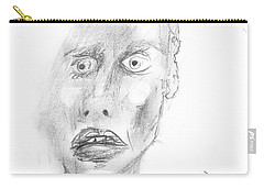 Portrait With Mechanical Pencil Carry-all Pouch