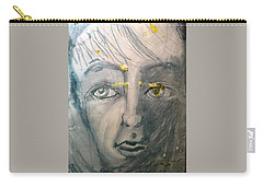 Portrait With Yellow Carry-all Pouch