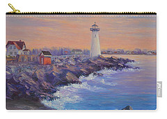 Portsmouth Lighthouse Sunset Peaceful  Coastal Painting Carry-all Pouch