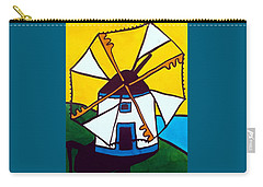 Portuguese Singing Windmill By Dora Hathazi Mendes Carry-all Pouch by Dora Hathazi Mendes