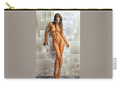 Carry-all Pouch featuring the digital art Pose Nue by Rafael Salazar