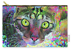 Posie The Tabby Cat Carry-all Pouch