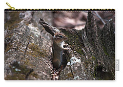 Carry-all Pouch featuring the photograph Posing #1 by Jeff Severson