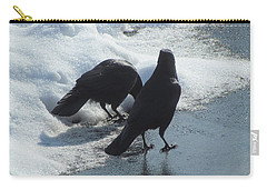 Posing Crows Carry-all Pouch
