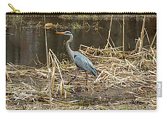 Posing Great Blue Heron  Carry-all Pouch