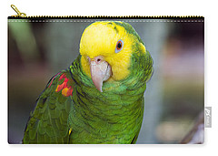 Posing Parrot Carry-all Pouch by Kenneth Albin