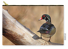Posing Wood Duck Carry-all Pouch