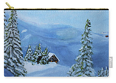 Carry-all Pouch featuring the painting Post Blizzard Silence by Jack G Brauer