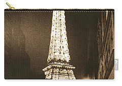 Postcard From Paris- Art By Linda Woods Carry-all Pouch by Linda Woods