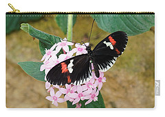 Carry-all Pouch featuring the photograph Postman Butterfly, Heliconius Melpomene by Paul Gulliver