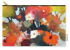 Carry-all Pouch featuring the painting Pot Of Flowers by Michelle Abrams