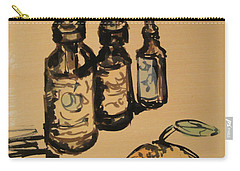Carry-all Pouch featuring the painting Potions by Maria Langgle