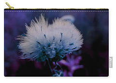 Powdery Purple Puff Flower By Lisa Kaiser Carry-all Pouch
