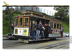Carry-all Pouch featuring the photograph Powell And Market Street Trolley by Steven Spak
