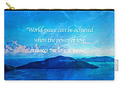Power Of Love Carry-all Pouch by Joan Reese