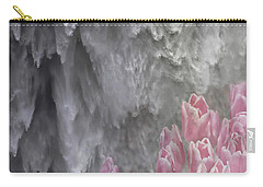 Carry-all Pouch featuring the photograph Powerful And Gentle Waterfall Art  by Valerie Garner