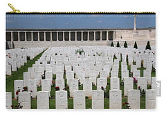 Carry-all Pouch featuring the photograph Pozieres British Cemetery by Travel Pics