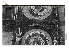 Prague Astronomical Clock In B/w Carry-all Pouch