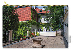 Carry-all Pouch featuring the photograph Prague Courtyards by Jenny Rainbow
